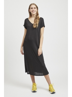 vinoel s/s v-neck medi dress-fav nx 14052839 vila jurk black