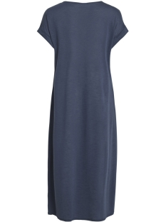 vinoel s/s v-neck medi dress-fav nx 14052839 vila jurk total eclipse