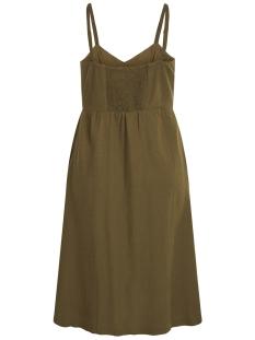 vikaluna dress tb/ki 14052448 vila jurk dark olive