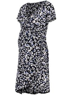 SuperMom Positie jurk DRESS SS WRAP S0982 MONACO BLUE
