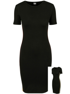 Urban Classics Jurk LADIES SIDE TAPED DRESS TB2643 BLACK