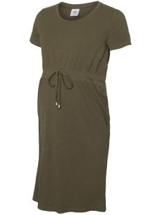 Mama-Licious Positie jurk MLANNABELL S/S JERSEY SHORT DRESS A 20009730 Ivy Green