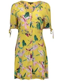 vmsimply easy ss button short dress 10211516 vero moda jurk yarrow/trille
