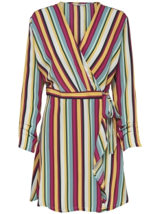 Only Jurk ONLMILLY L/S WRAP DRESS WVN 15176557 Mango Mojito/RESORT