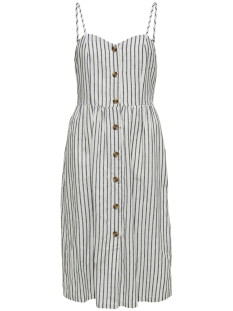 Only Jurk ONLLUNA STRAP STRIPE DNM DRESS QY T 15178937 White/W/STRIPES