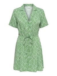 43bbc2235a6e77 Nieuw Jacqueline de Yong Jurk JDYSTAR S S SHIRT DRESS WVN FS 15171488  Medium Green CLOUD DANCER