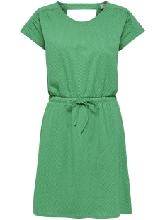 Jacqueline de Yong Jurk JDYBILLIE TREATS AOP S S KNEE DRESS 15174384 Simply Green/MINI DOT A