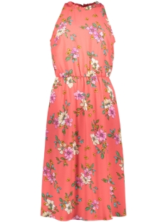 Jacqueline de Yong Jurk JDYTRICK TREATS S/L DRESS WVN 15174333 Cayenne AOP/PINK FLOWER