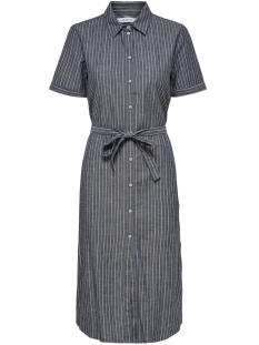 Jacqueline de Yong Jurk JDYLEILA SHIRT DRESS DNM 15176047 Blue Depths Stripes