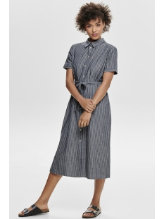 jdyleila shirt dress dnm 15176047 jacqueline de yong jurk blue depths stripes