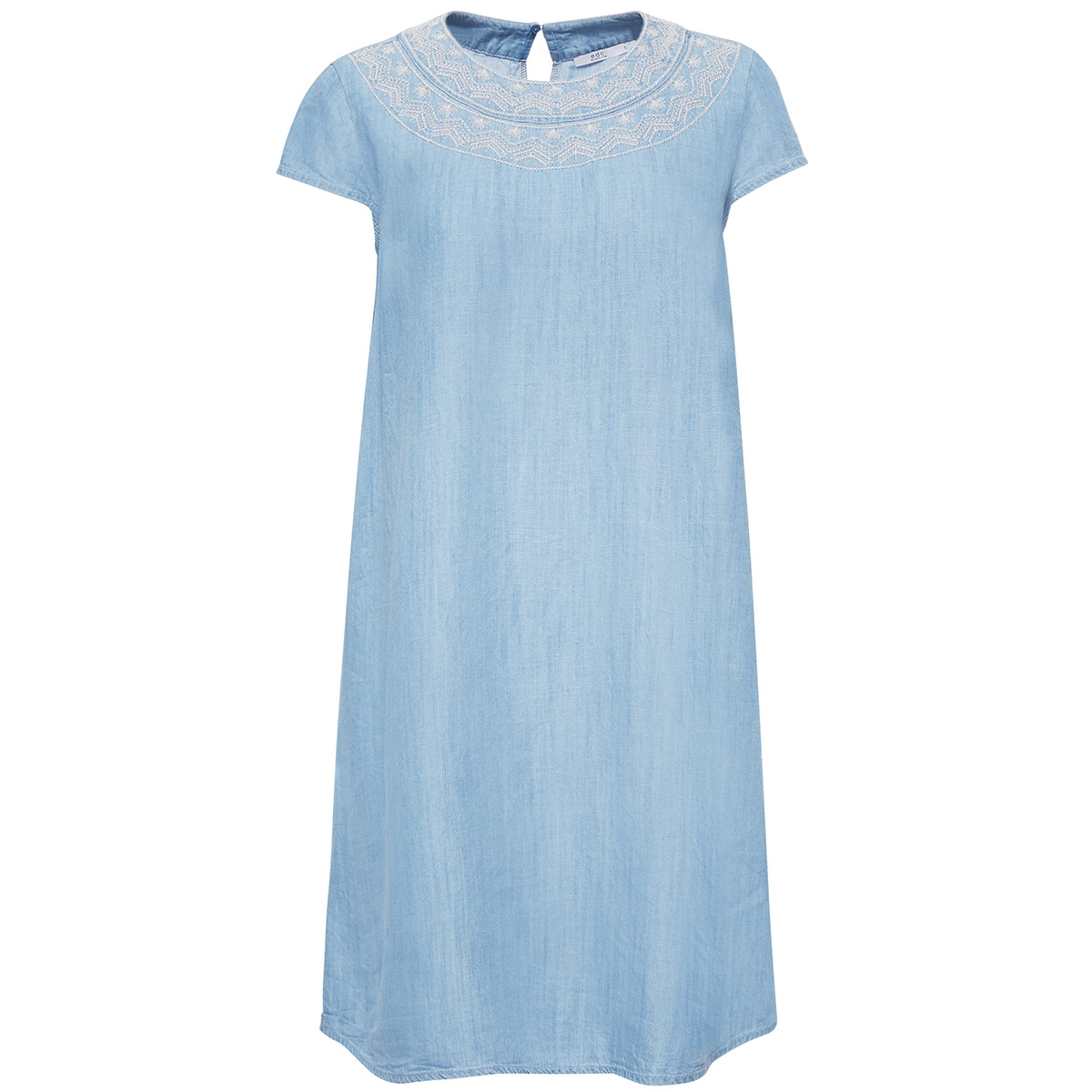 jurk met borduursel en denimlook 059cc1e007 edc jurk c903