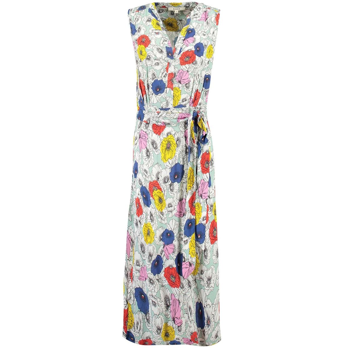 groene jurk met print e90080 garcia jurk 2715 perfect mint