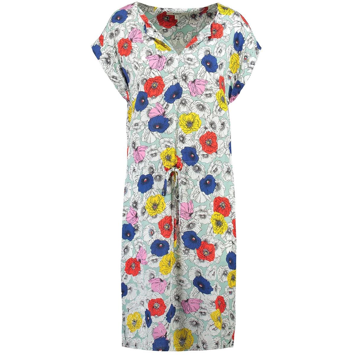 groene jurk met korte mouwen e90083 garcia jurk 2715 perfect mint