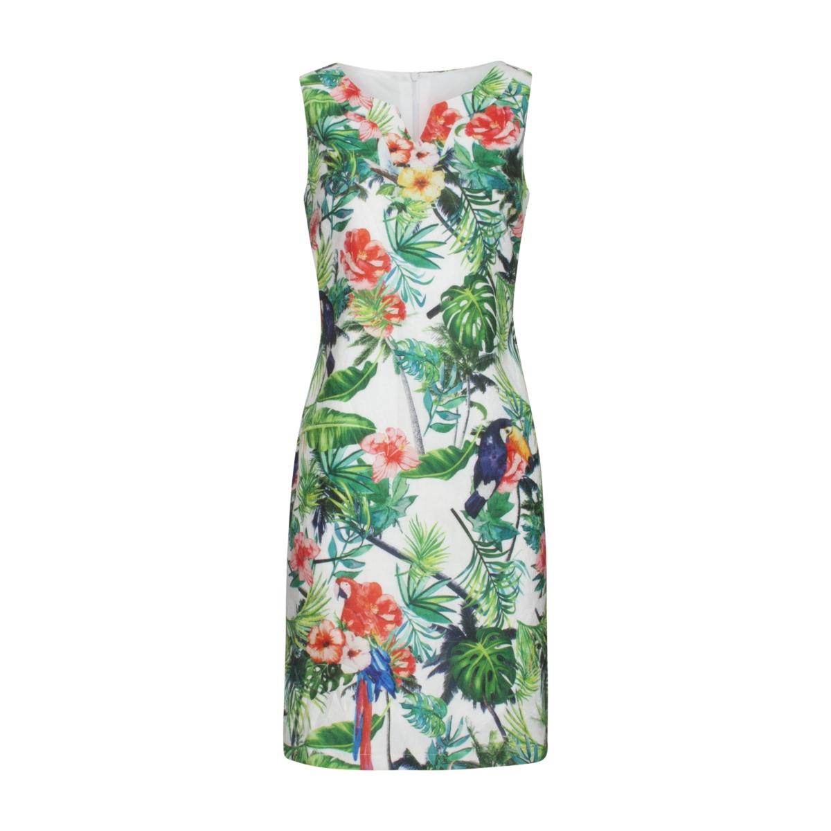 dress 19190 smashed lemon jurk white/green