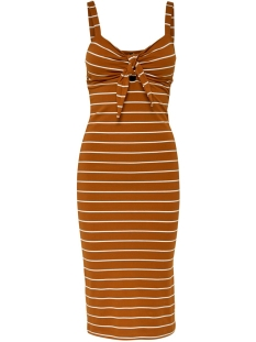 Only Jurk ONLLIVE LOVE S/L KNOT DRESS JRS 15180223 Sugar Almond/CLOUD DANCER