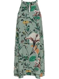 Only Jurk onlMARIANA MYRINA S/L DRESS NOOS WV 15138771 Granite Green/DIDA FLOWER