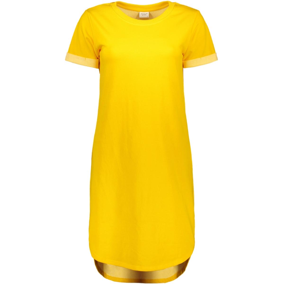 jdyivy s/s dress jrs 15174793 jacqueline de yong jurk lemon