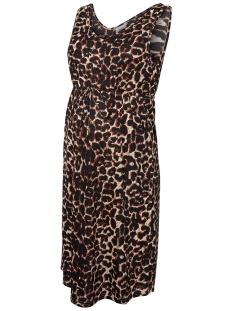 Mama-Licious Positie jurk MLLEO S/L JERSEY ABK DRESS A. 20009944 Black/LEOPARD