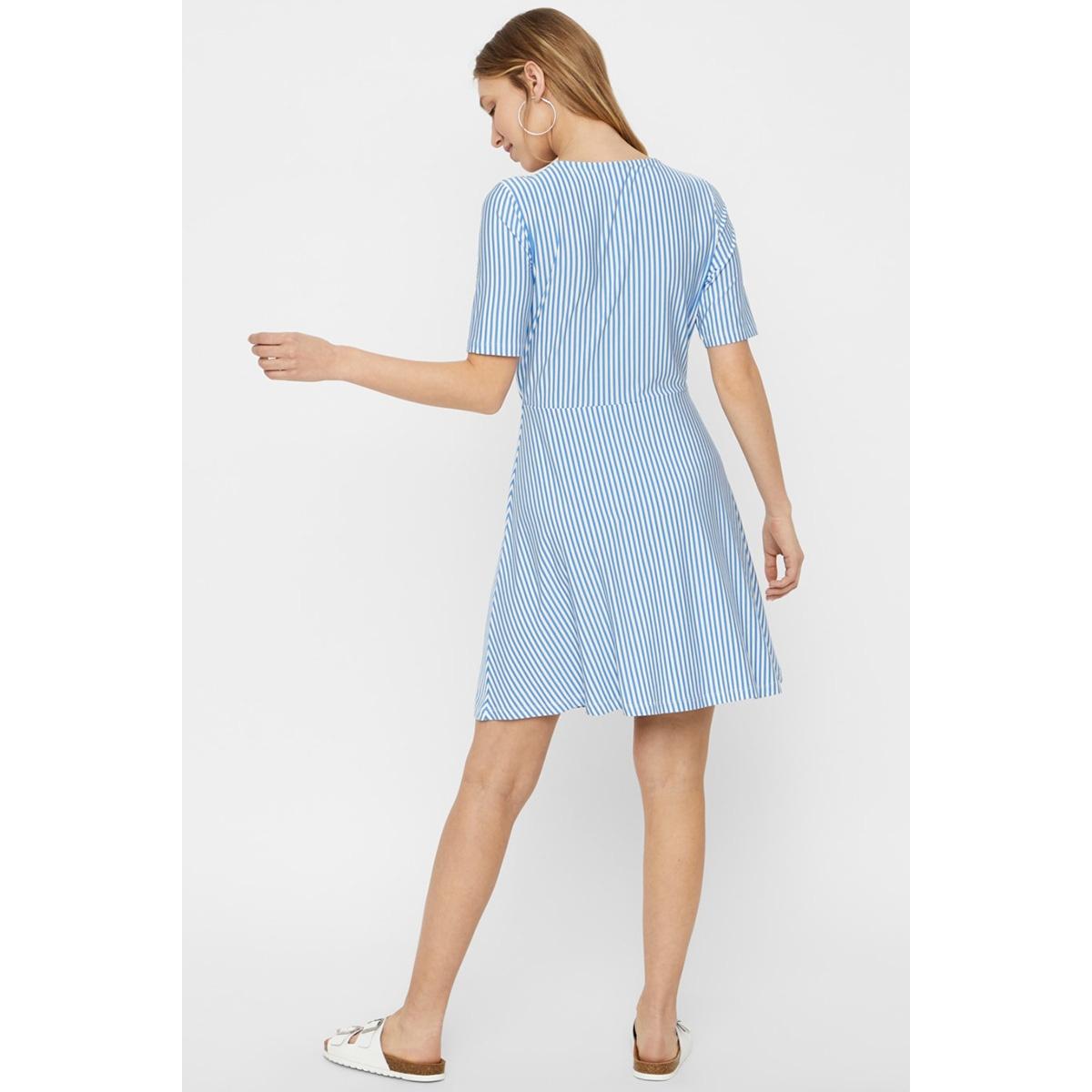 vmava ss short dress jrs 10214459 vero moda jurk granada sky/snow white