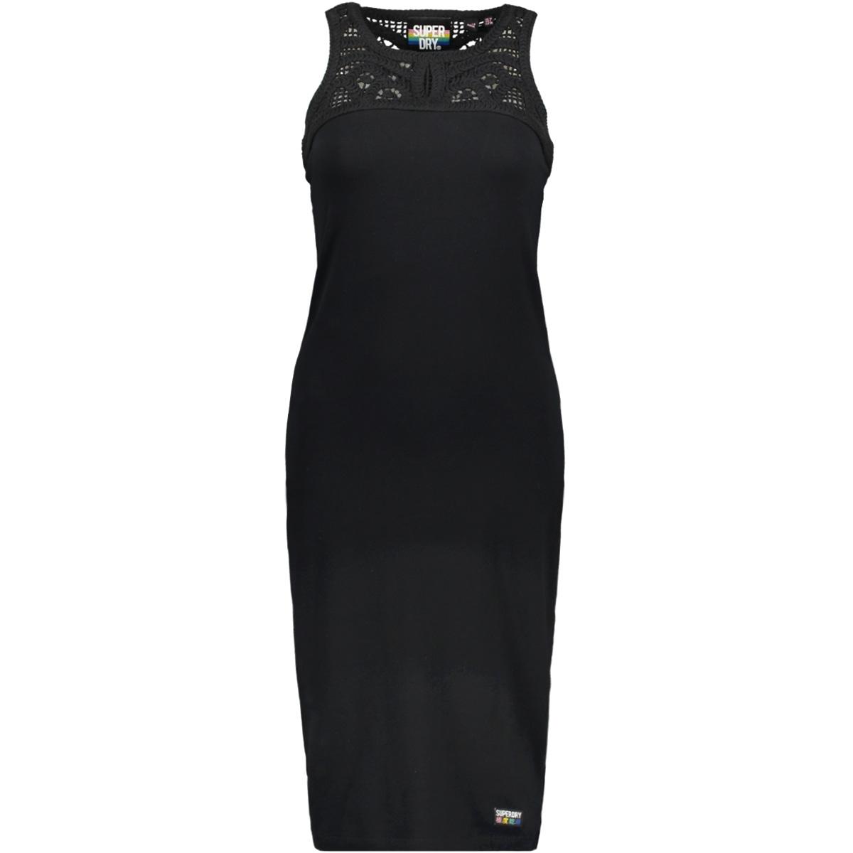 e50d207b1da5e0 jessie macramie midi g80207ru superdry jurk black