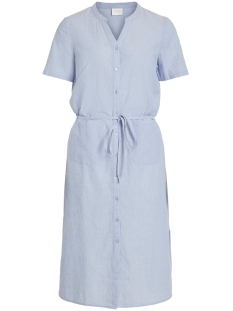 Vila Jurk VINELIA S/S SHIRT DRESS 14052430 Powder Blue