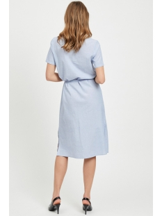 vinelia s/s shirt dress 14052430 vila jurk powder blue