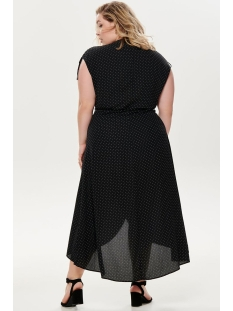 cartaylor maxi dress 15177563 only carmakoma jurk black/dots in wh
