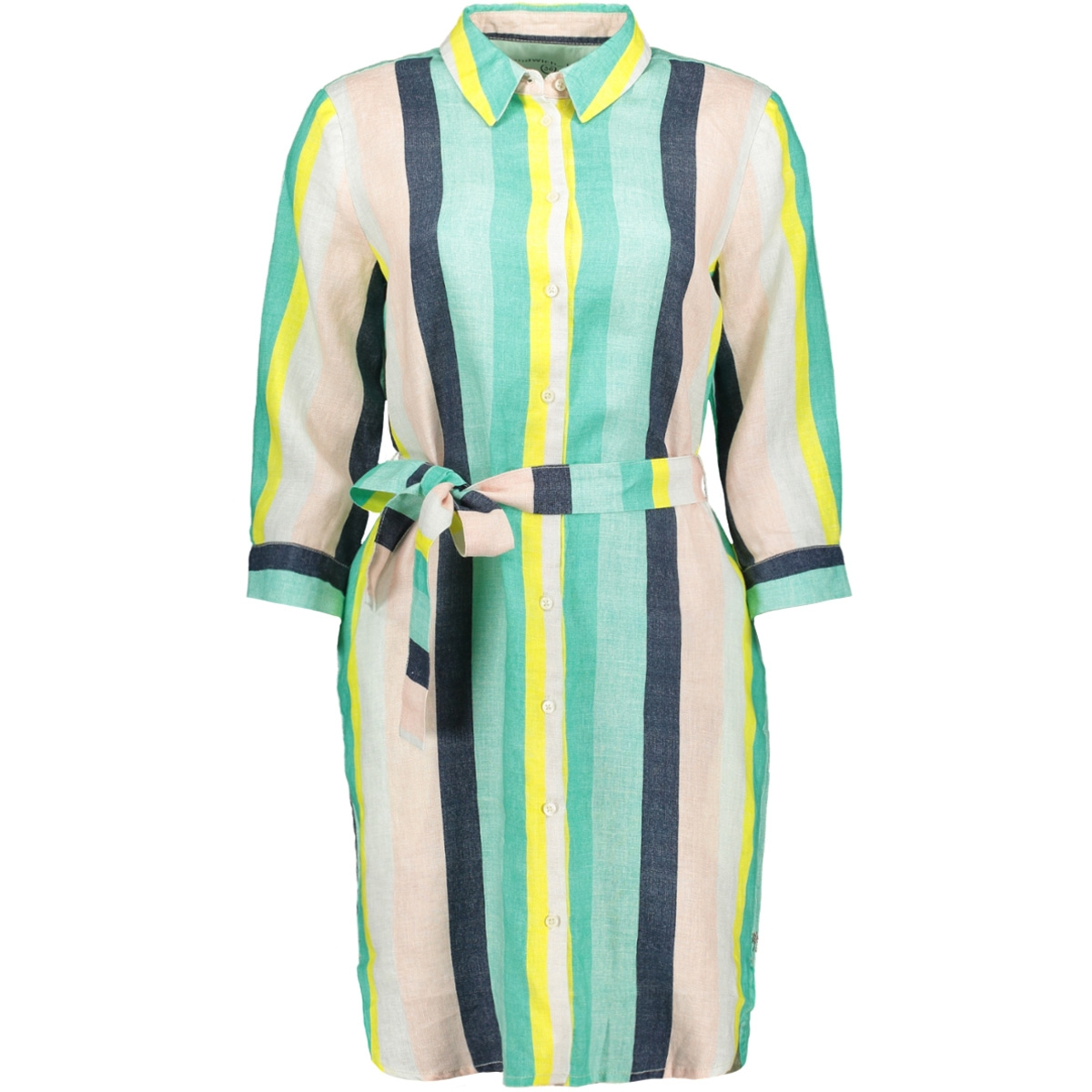 multi coloured gestreepte jurk 23001539 sandwich jurk 50056