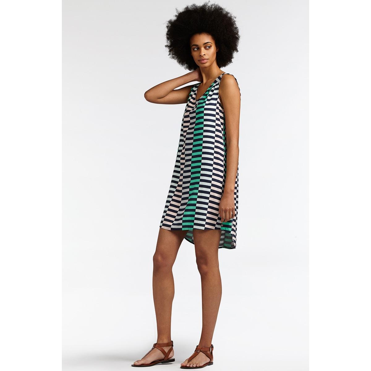 mouwloze jurk 23001548 sandwich jurk 40115