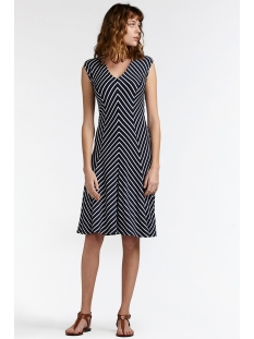 jurk met all over streeppatroon 23001568 sandwich jurk 40115