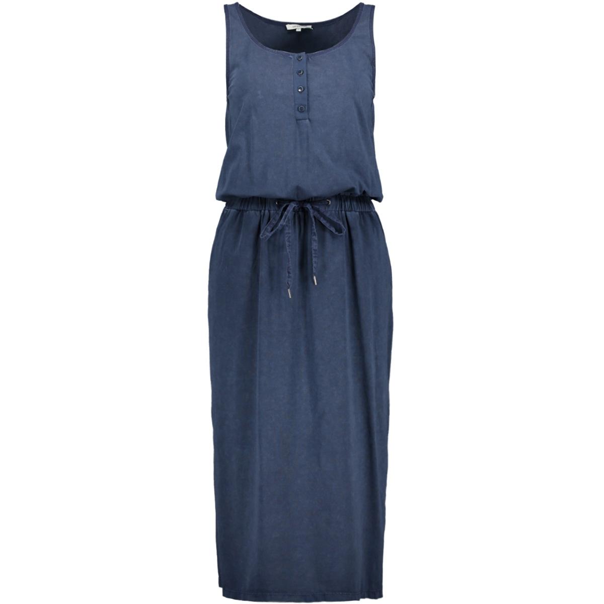 mouwloze jurk met denimlook 23001569 sandwich jurk 40115