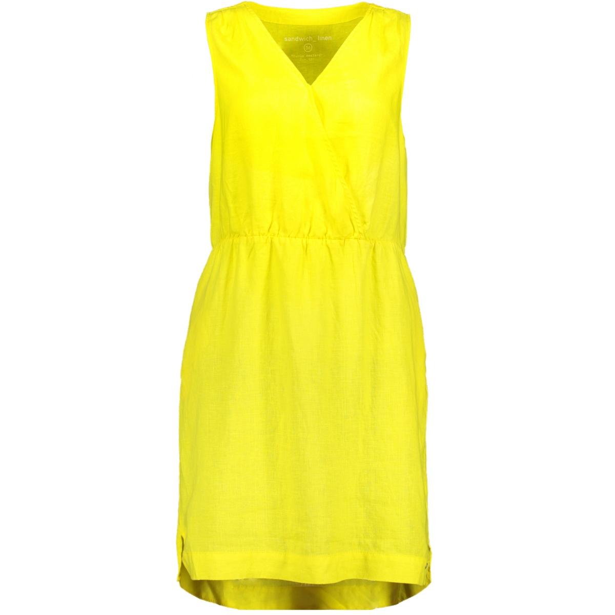 linnen jurk 23001626 sandwich jurk 30027