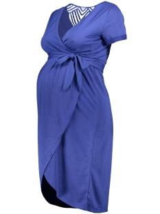 Mama-Licious Positie jurk MLURA TESS S/S JERSEY ABK DRESS NF 20009925 Deep Ultramarine/MELANGE