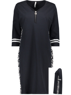 Zoso Jurk SELINA DRESS WITH ALLOVER PANEL 192 NAVY