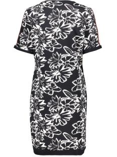 sally allover printed sweat dress 192 zoso jurk navy/salmon