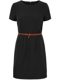 48d055dd5e3e2b -50% Vero Moda Jurk VMPEKAYA S S O-NECK SHORT DRESS LCS 10219935 Black