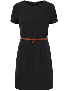 vmpekaya s/s o-neck short dress lcs 10219935 vero moda jurk black