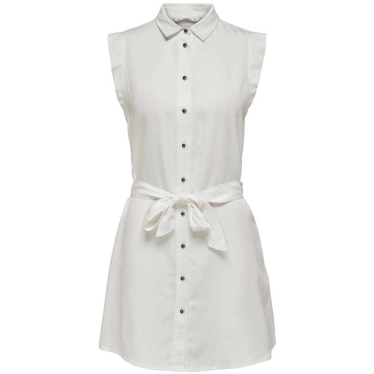 onlfchilli life sl shirt dress wvn 15180733 only jurk cloud dancer