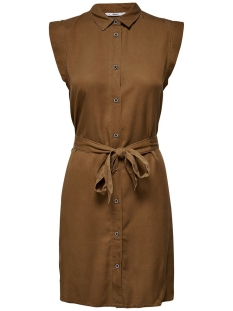 Only Jurk ONLFCHILLI LIFE SL SHIRT DRESS WVN 15180733 Toffee