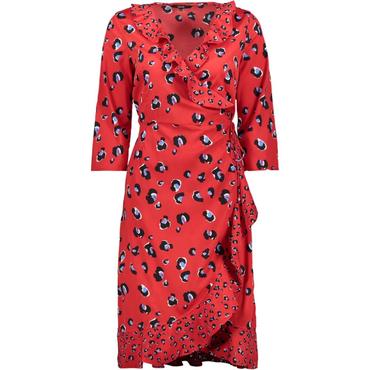 vmhenna leo wrap dress lcs 10221177 vero moda jurk chinese red/leona