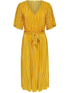 Jacqueline de Yong Jurk JDYNOEL S/S DRESS JRS 15174792 Lemon/STRIPE3