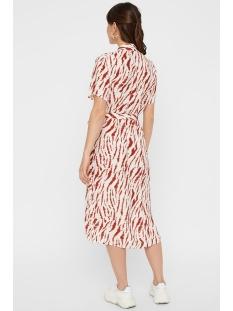 pceyva ss wrap dress 17097721 pieces jurk bright white/zebra red