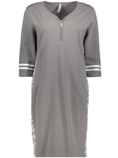 Zoso Jurk SELINA DRESS WITH ALLOVER PANEL 192 GREY