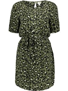 Jacqueline de Yong Jurk JDYUTRECHT MILO S/S DRESS WVN 15188013 Four Leaf Clove/LEO