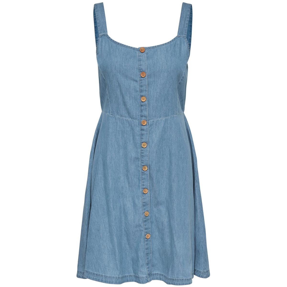 jdykelly s/l dress wvn 15174482 jacqueline de yong jurk light blue denim