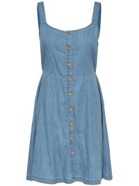 7e8b74bda9d2b8 Nieuw Jacqueline de Yong Jurk JDYKELLY S L DRESS WVN 15174482 Light Blue  Denim