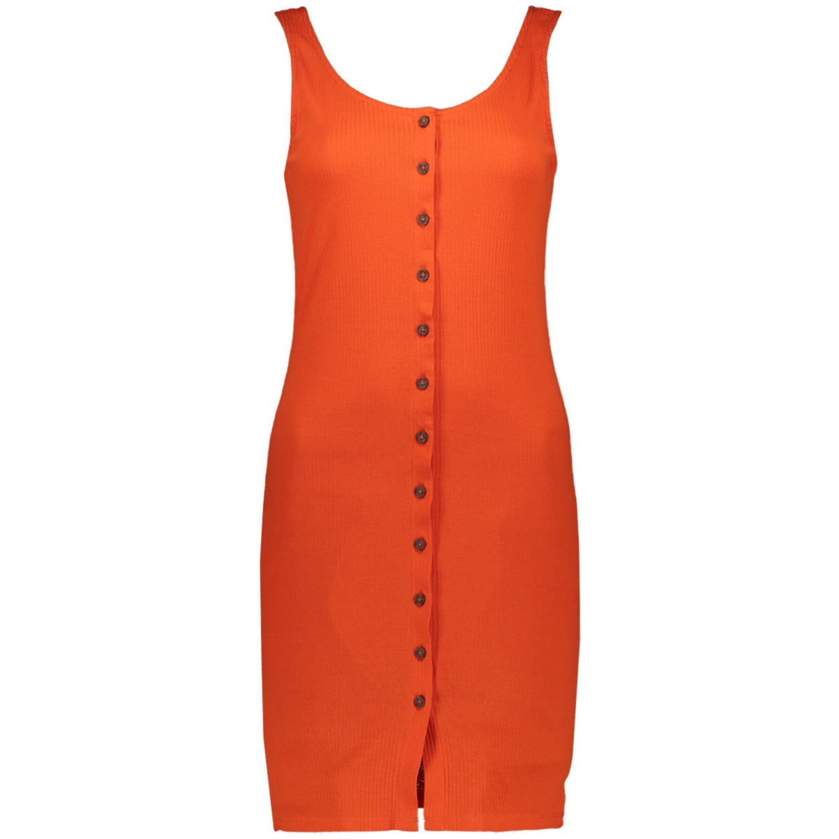 jdynevada treats s/l button dress j 15179978 jacqueline de yong jurk orange.com