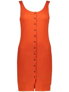 Jacqueline de Yong Jurk JDYNEVADA TREATS S/L BUTTON DRESS J 15179978 Orange.Com