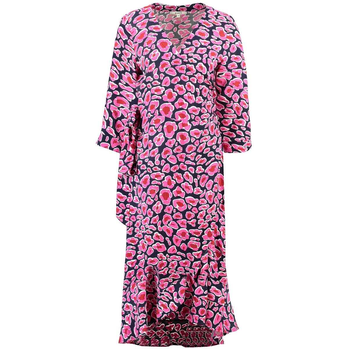 roze panterprint jurk ge900104 garcia jurk 292 dark moon