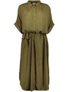 violea s/s shirt dress 14054212 vila jurk dark olive